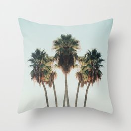 Palm Twins Throw Pillow