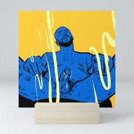 Come here! Man sitting  Mini Art Print
