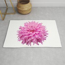 Floral Art Pink Dahlia Rug