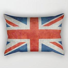 Union Jack flag, grungy retro 1:2 scale Rectangular Pillow