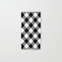Gingham Plaid Black & White Hand & Bath Towel