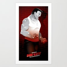Sin City-Marv Art Print