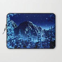 moonlight winter landscape Laptop Sleeve