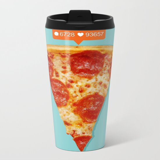 Pizza Metal Travel Mug