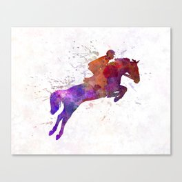 Horse show 01 in watercolor Canvas Print
