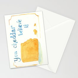 You Cheddar Believe It Stationery Cards