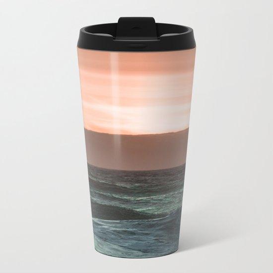 Perfect Ocean Sunset Metal Travel Mug
