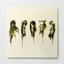 Bleach GOld Characters Metal Print