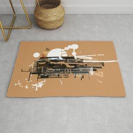 """Four Tet"" Graphic Art Print Rug"
