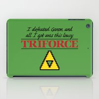 triforce iPad Cases featuring Lousy Triforce by Mike Handy Art