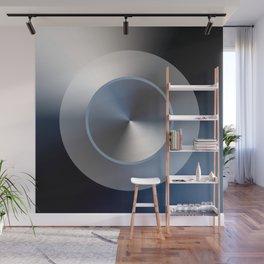 Serene Simple Hub Cap in Blue Wall Mural