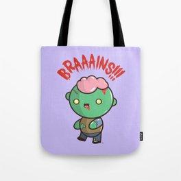 Zombie Kawaii   BRAAAINS!!!! BRAINS!! Halloween Tote Bag