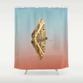 Black Witch Moth Shower Curtain
