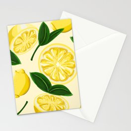 yellow lemons Stationery Cards