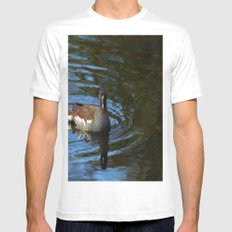 Common Moorhen MEDIUM Mens Fitted Tee White
