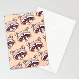 Happy raccoon Stationery Cards
