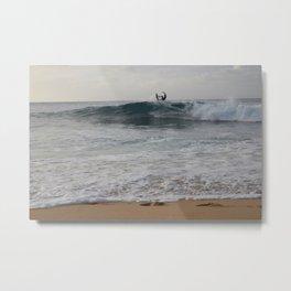 North Shore Surfer Metal Print