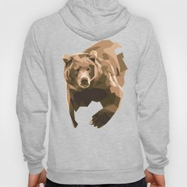 Geometric Brown Bear Hoody