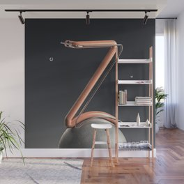 Outer Space Letter Z Wall Mural