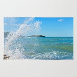 Big wave on the blue sea Rug