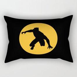 A Panther in a yellow circle Rectangular Pillow