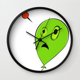 Threatened Balloon Wall Clock