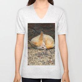 Time to Sleep Little Fennec Fox Unisex V-Neck