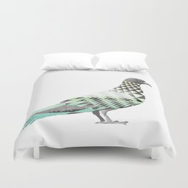 Tessellated Pigeon Duvet Cover