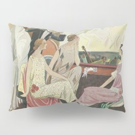 Art - Taste - Beauty, Leaflets of feminine elegance Pillow Sham