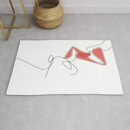One-Line Kiss Rug