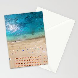 AERIAL. Summer beach Stationery Cards