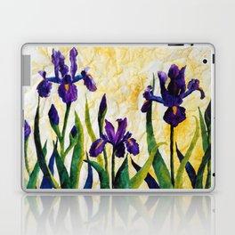 Watercolor Wild Iris on Wrinkled Paper Laptop & iPad Skin