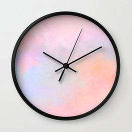 Pink Orange Summer Sky Wall Clock