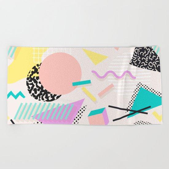 Colorful Chaos Beach Towel
