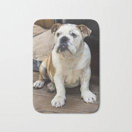 British bulldog puppy Bath Mat