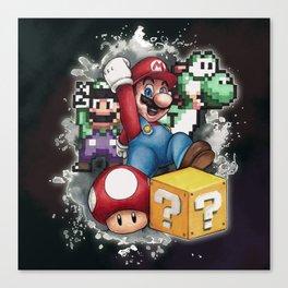 Mario et ses amis Canvas Print