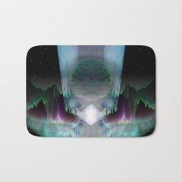 The Glass Station [series: Glitch Re:Work] Bath Mat