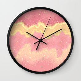 Summer Sweets:  Pink Lemonade Galaxy Wall Clock