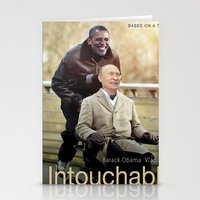 """putin Stationery Cards featuring Putin And Obama in """"Les Intouchables"""" by Luigi Tarini"""