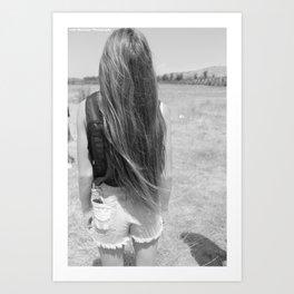 Perfect Hair Art Print