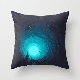 Calm Night To Fly Throw Pillow