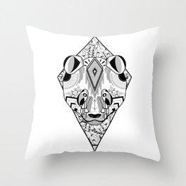 Panda Ornament Patterns Throw Pillow