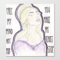 artpop Canvas Prints featuring ARTPOP by Christopher DeSapio