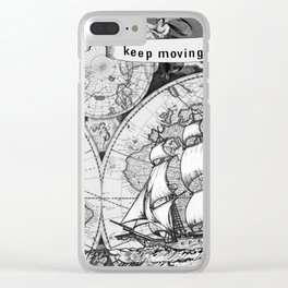 Ship and Map .  Home Decor for Him and Her Clear iPhone Case