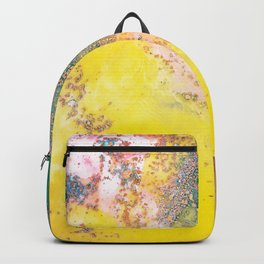 Random Bliss, Abstract Graphic Digital Art, Resin Art Painting Colorful Eclectic Bohemian Backpack
