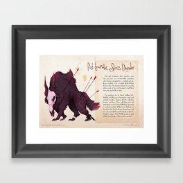 Real Monsters- PTSD Framed Art Print