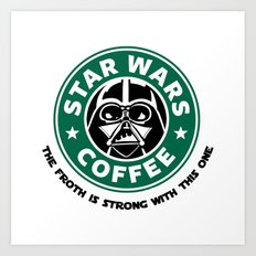 Star Wars Coffee Art Print