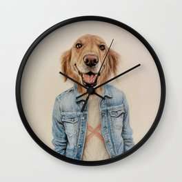 dog cowboy Wall Clock