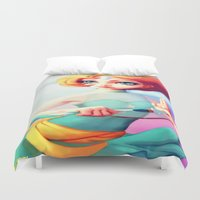 steven universe Duvet Covers featuring Steven Universe Pearl by RSArts
