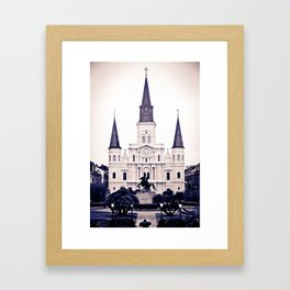 The Square at dawn Framed Art Print